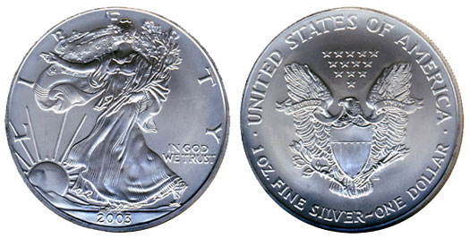 1998 2003 American Silver Eagles Releases Yearly Information
